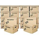 StorePAK Eco Archive Lot de 20 boîtes de rangement en carton avec couvercles – Facile à assembler, rangement à domicile, bure
