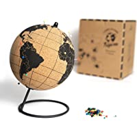 Tripvea - Schwarzkorkkugel - Reisethema Dekoration - Vintage Weltkarte - dekorative Weltkarte Dekorationsidee für Büros…