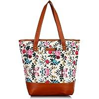 Lychee Bags Women Printed Canvas Tote Bag