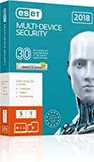 Eset Multi-Device Security 2018 | 5 User | 1 Jahr Virenschutz | Windows (10, 8, 7 und Vista), macOS, Linux und Android | Standardverpackung mit CD