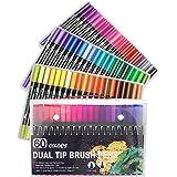 Markörpennor för teckning, pennor med dubbla spetsar, konstmarkörer, fineliner, vattenfärg, ritpennor
