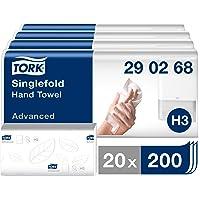 Tork Essuie-mains pliés en V Advanced - 290268 - Papier d'essuyage pour Distributeur H3 - Absorbant et indéchirable…