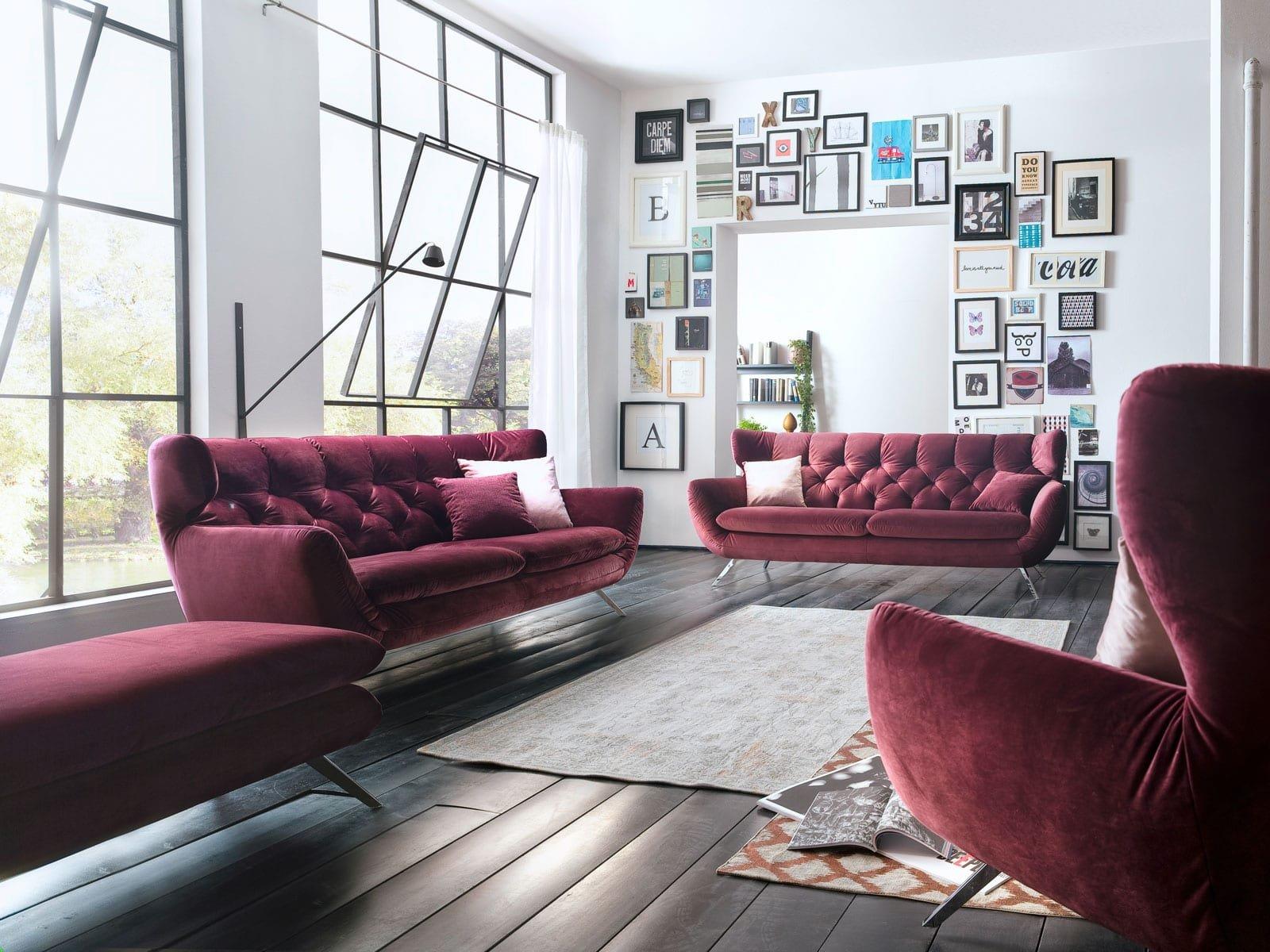 Modernes Samt Sofa in vielen Farben online kaufen ❤