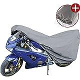 WALSER 41089 Motorfietsgarage Sport maat M, afdekzeil PVC - 215x95x120cm grijs, afdekzeil motorfiets, afdekzeil motorfiets wa