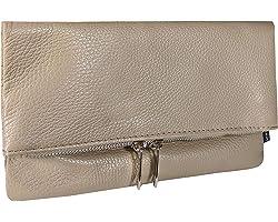 SKUTARI® LEDER GIURA Classic Damen Clutch | aus hochwertigem Echt-Leder | Geldtasche | Umhängetasche | Geldbörse | Ledertasch
