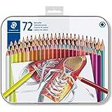 STAEDTLER 175M72 ST Lápices de colores con forma hexagonal, Caja con 72 colores variados