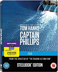 Captain Phillips (Limited Edition Steelbook) (Blu-ray + Digital HD + UV) (Region Free + Mastered in 4K) (Fully Packaged Import)
