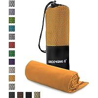 DecoKing Set di 2 Asciugamani 30x50 cm in Microfibra Tinta Unita Arancione Ekea