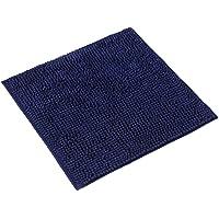 WohnDirect Tapis de Bain Bleu Foncé • Sets modulables • Antidérapant, Absorbant et Doux • sans découpe WC, 45x45cm