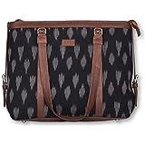 ZOUK Women's Messenger Bag (S-ZU-13_Black & Brown)