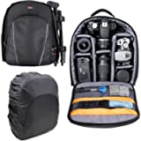 DURAGADGET 14 inch Padded Camera Rucksack Backpack Bag - Compatible with Canon EOS & PowerShot Range - Now with Rain…