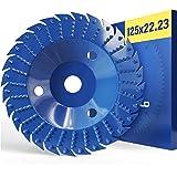 FALKENWALD Flex Cut & Rasp skiva – träskiva 125 mm för vinkelslipar. Raspskiva 125 trä. Flex träfräs. Woodcarver för vinkelsl