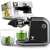 Vandenberg slow juicer - Stille sapcentrifuge voor groenten en fruit [150 W]- Vitaminevriendelijke elektrische sapcentrifuge
