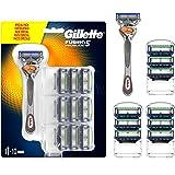 Gillette Fusion5 Proglide Lamette di Ricambio per Rasoio, Confezione da 10 Lamette e 1 Manico Gratis