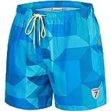 coskefy Swimming Shorts for Men Boys Swimming Trunks Quick Drying Short Multicoloured Beach Shorts Board Shorts Beach Shorts