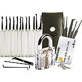 20-Delige Lock Picking Set voor Sloten met Transparant Training Hangslot en Credit Card Lock Pick Tool Kit van Lock Cowboy +