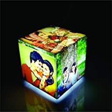 Zoci Voci Personalized Acrylic White Cubelet Mini Lamp