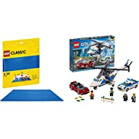 LEGO City Police High Speed Chase Building Blocks for Kids 5 to 12 Years ( 294 Pcs) 60138 (Multi Col & LEGO Classic Blue…