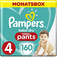 Pampers Baby-Dry Pants, Gr.4, Maxi 9-15kg, Monatsbox, 1er Pack (1 x 160 Stück)