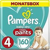 Pampers Baby-Dry Pants, Gr. 4, 9-15 kg, Monatsbox, 1er Pack (1 x 160 Stück)