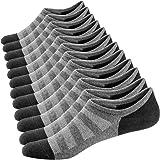 Ueither Homme Chaussettes Basses Respirantes Courtes Socquettes de Sport en Coton Confortable Basiques Chaussettes