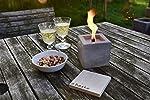 Beske-Betonfeuer mit 'Dauerdocht'   Größe 10x10x10 cm   Wiederbefüllbare Gartenfackel   'Unendliche' Brenndauer durch...