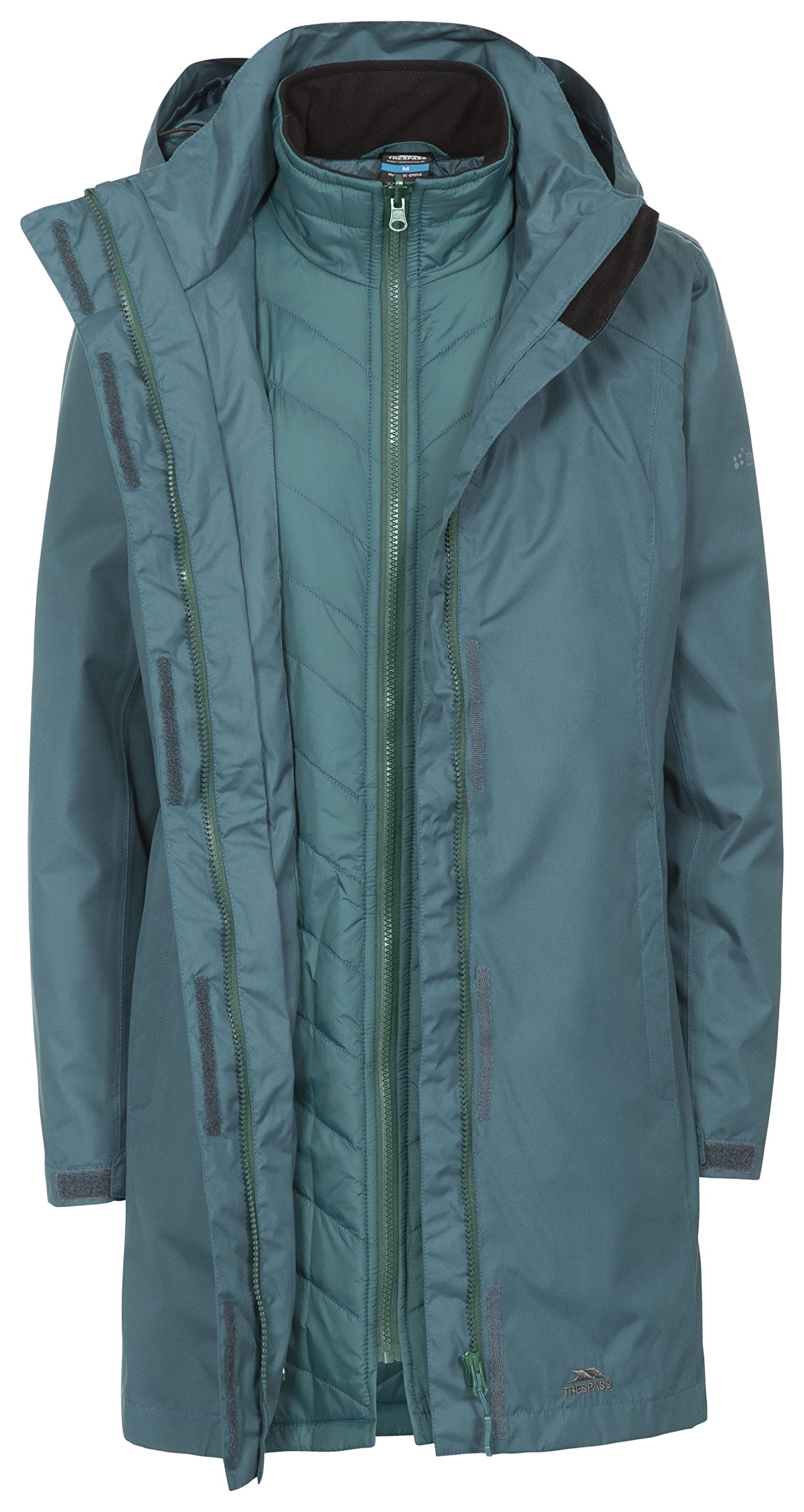 Trespass Alissa II Womens Waterproof 3 in 1 Jacket with Hood 1