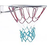 BESTIF Basketballkorb Outdoor Kinder   Basketball Korb fürs Zimmer   Ring mit Netz   Silber Farbe   Durchmesser 45cm