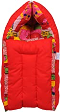 Jack & Jill Baby Bedding set/Baby Bed /Baby Carrier/ Sleeping Bag/ New Born/Just Born - Red (L)