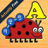 Kinder Insekt Brief Nummer Logik und Labyrinth-Spiele - Spaß für Kinder im Vorschulalter lernen