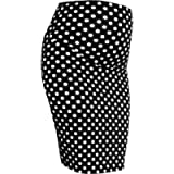 Smartenity Maternity DOT Stretch Pencil Bodycon MIDI Skirt Over Bump Pregnancy