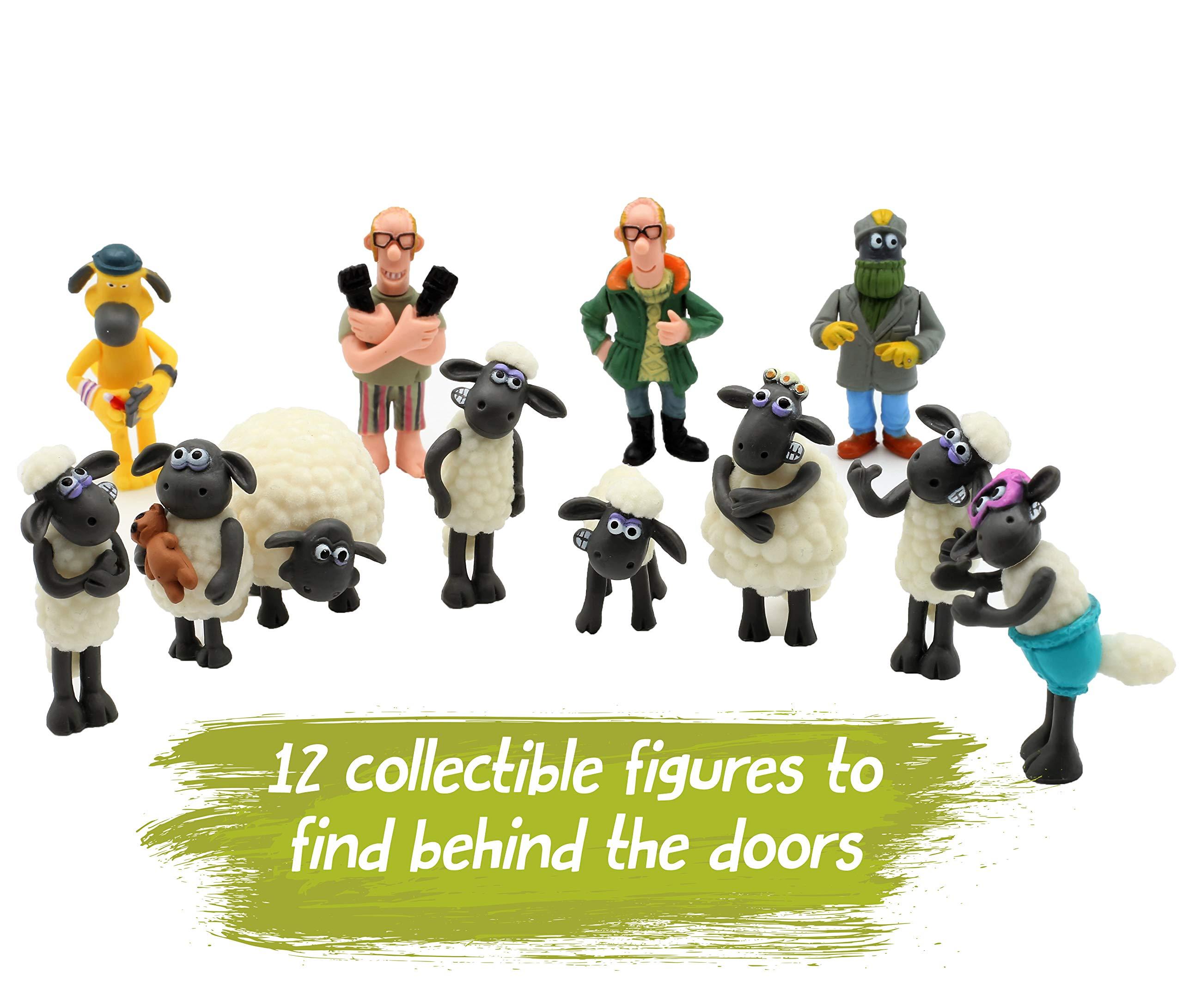 SHAUN THE SHEEP Calendario de Adviento para Niños Wallace and Gromit Dibujos Animados Incluye Pegatinas Figuritas Rompecabezas Juego de Mesa