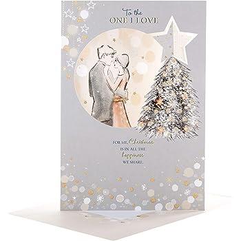 """One I Love Hallmark New Cute Medium Christmas Card /""""Kissmas/"""""""