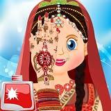 indischer Brautbadezimmersalon: Hochzeitssalon-freies Spiel für Mädchen, Brautbadekurort, Promi-Hochzeitssalon
