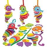 Baker Ross Kits d'hippocampes à empiler (lot de 6) - Kits créatifs de vacances pour enfants Coloris Assortis AW679