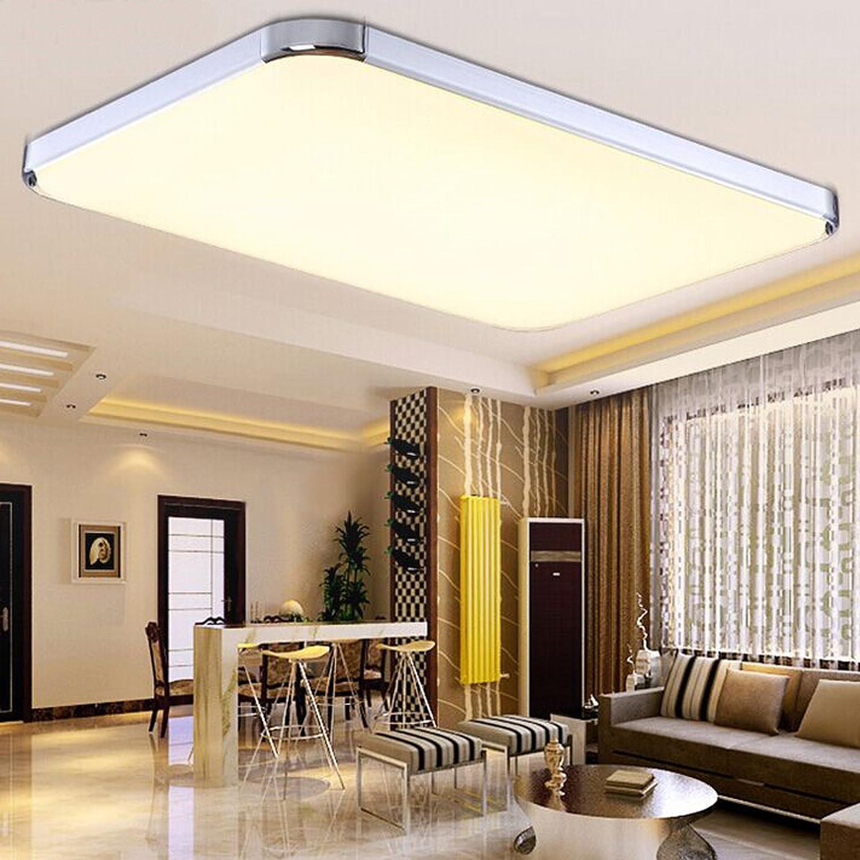 Baytter LED Deckenleuchte Deckenlampe Dimmbar Mit Fernbedienung 12W 72W Warmweiss Weiss 65x43 Cm 36W FB Amazonde Kche Haushalt
