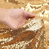 LQIAO Shimmer Gold Sequin Fabric By The Yard Two Way Stretch Spandex Embroidered Mesh African Lace Sequin Fabric for Dress Se