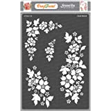 Craftreat Flower Stencil for Craft - A Bunch of Blooms - Size A4 - Reusable DIY Stencils for Painting - Home Decor Stencils f