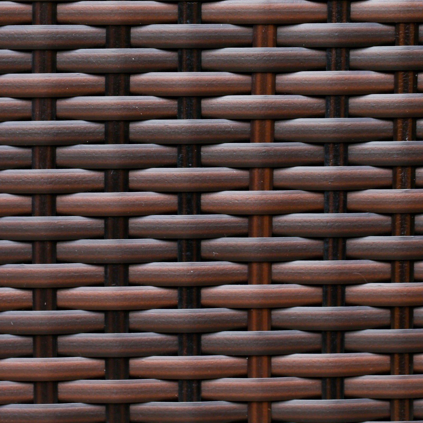 6ec9ba83572e Abreo Brown Rattan Garden Furniture Sofa Set Wicker Weave 4 Seater Patio  Conservatory Luxury