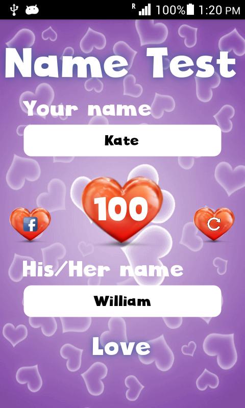 mein liebestest namen