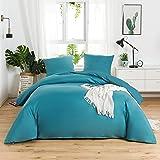 AYSW 14 Couleurs Parure de lit avec Housse de Couette 240 x 260 cm / 65 x 65 x 2 cm Parure 3 pieces pour 2 Personnes avec Fer