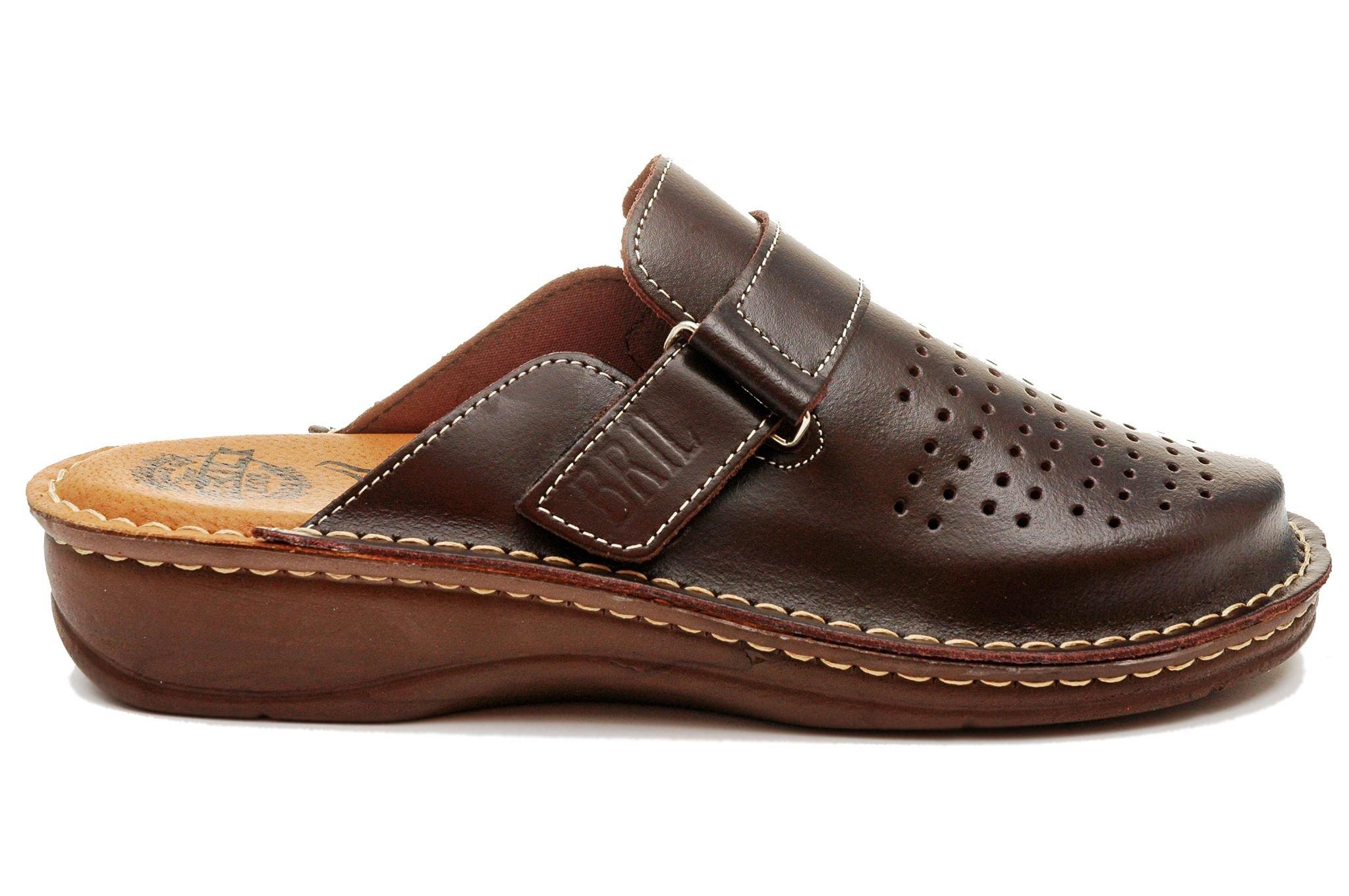 prezzo più basso stile di moda super qualità Dr Punto Rosso BRIL U20 Zoccoli Sabot Pantofole Scarpe Pelle Uomo ...