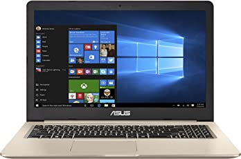 ASUS VivoBook Pro 15 N580VD (90NB0FL1-M00450) 39,6 cm (15.6 Zoll, Full-HD, matt) Laptop (Intel Core i7-7700HQ, 16GB RAM, 256GB SSD + 1TB, NVIDIA GTX1050 (4GB), Windows 10) Gold Metall