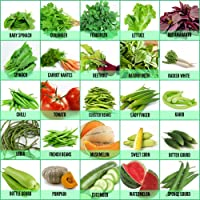 Leafy Tales 25 Varieties of Vegetable & Fruits Seeds for Kitchen Garden - 1600+ Seeds | Easy to Grow