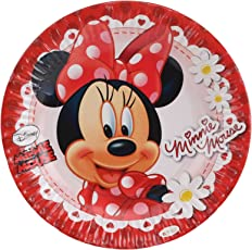 Untumble Minnie Mouse Birthday party supplies Paper Plates (SET OF 20)
