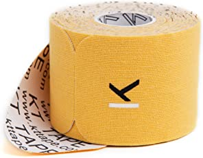 KT TAPE Original Cotton Elastic Kinesiology Therapeutic Tape - GOLD - 20 Pre-Cut 10-Inch Strips