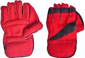 SST Men's Cricket Wicket Keeping Gloves (Multi-colour)