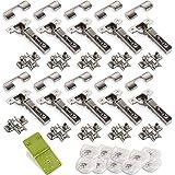 10 stuks SOTECH potscharnier T45 clip, hoekscharnier met zelfsluitingsmechanisme en demper incl. centreermal EasyGreen