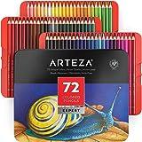 Arteza Estuche de lápices de colores para dibujo profesional | Caja de 72 unidades | Lápices de dibujo artístico | 72 colores