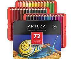 Arteza Ensemble De 72 Crayons De Couleur De Qualité Professionnelle, Superposition De Couleurs Pour La Création D'œuvres D'ar